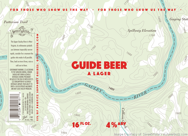 SweetWater Adding Guide Beer (A Lager) Cans