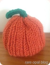 mini pumpkin knitted