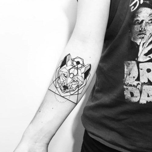 este_elegante_geomtricas_lobo_tatuagem