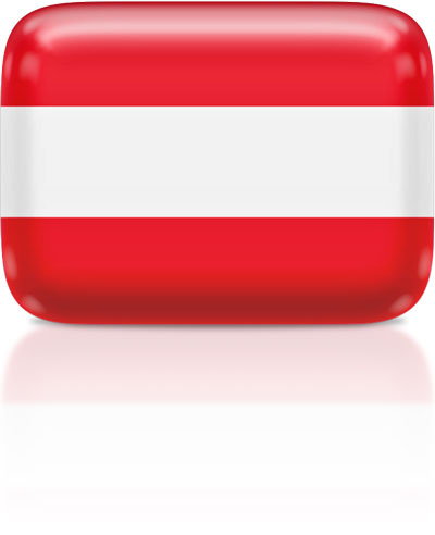 Austrian flag clipart rectangular