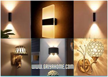 Jenis lampu dinding yang digunakan