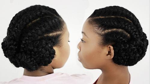 Outstanding Updos With Braids Black Hair Braids Short Hairstyles Gunalazisus