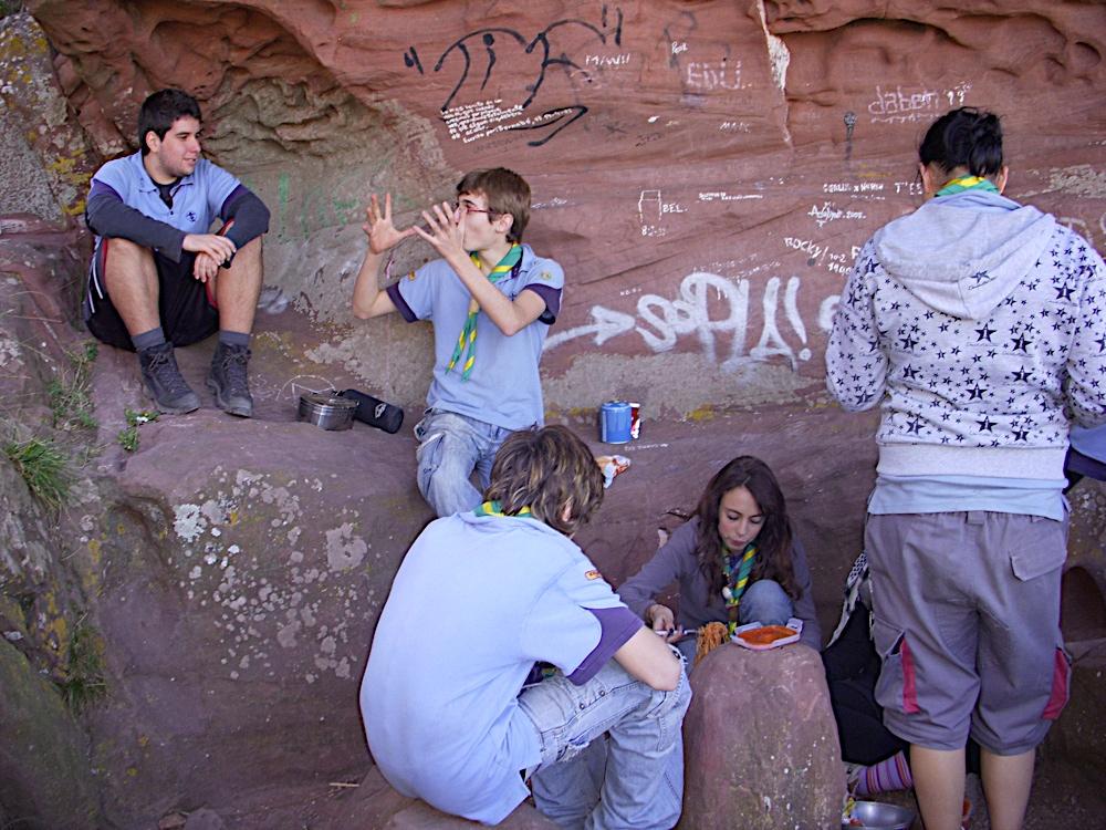 Sortida Castell Eramprunyà - Pioners 2009 - DSCN1008.JPG