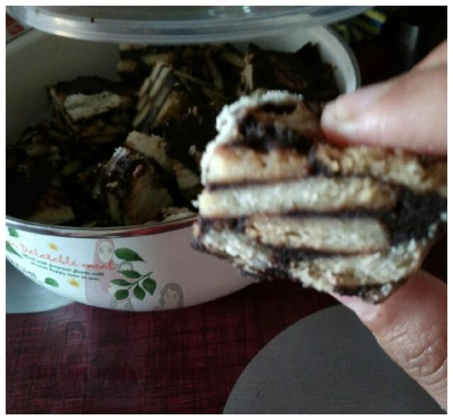 Resepi kek batik mudah.