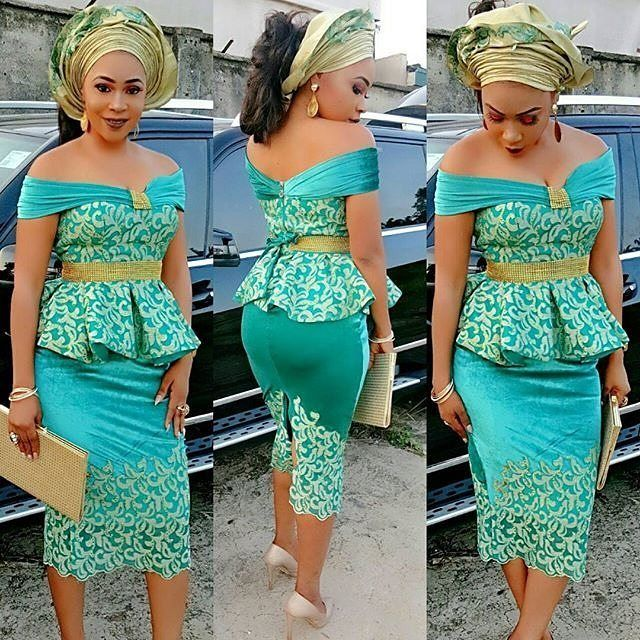SHORT BLUE DRESS DESIGNS FOR AFRICAN WOMEN 2