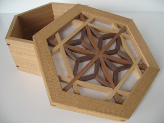 菓子器六角 kumiko hexagon candy box