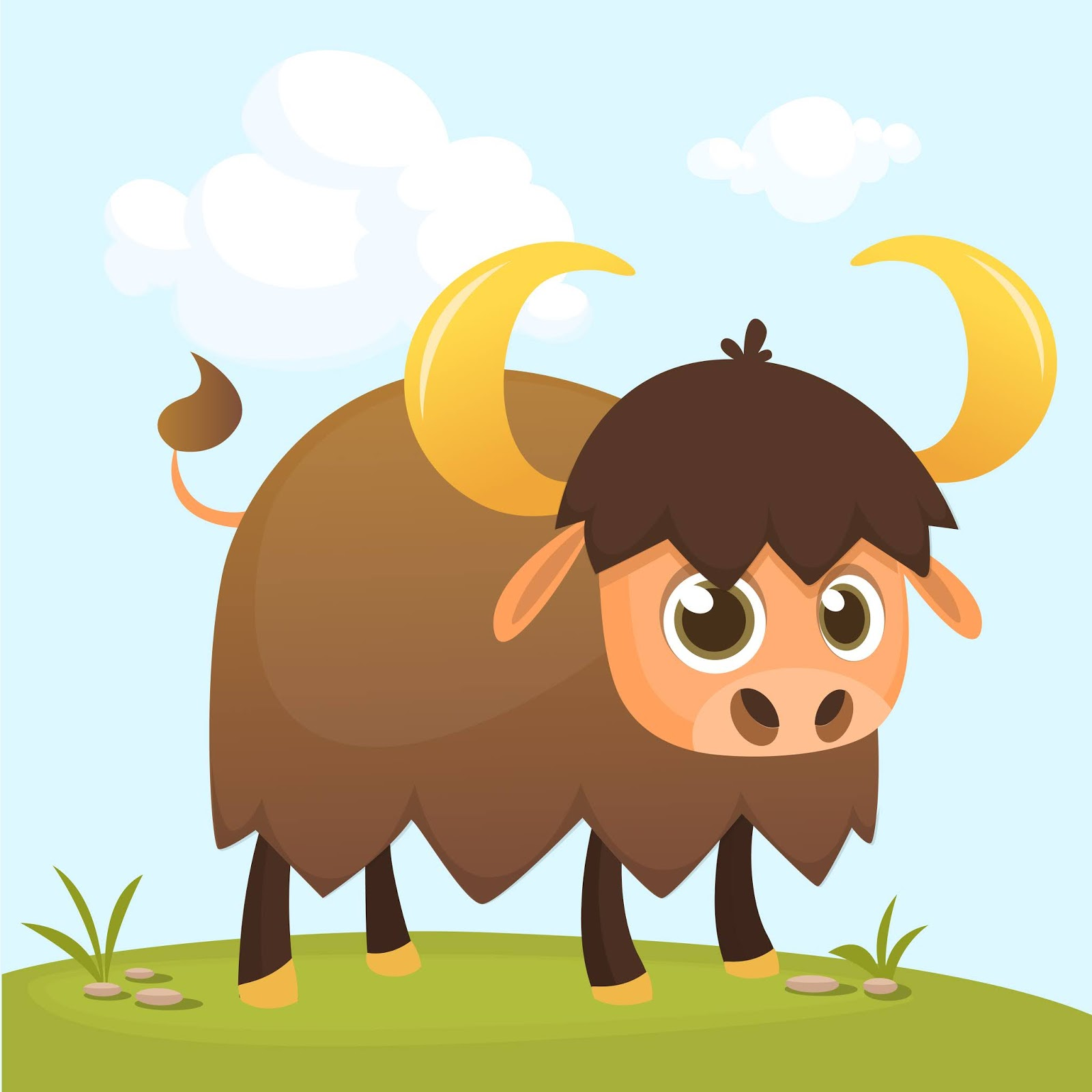 Cartoon Funny Bull Illustration Free Download Vector CDR, AI, EPS and PNG Formats