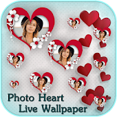 Love Live Wallpaper - Floating Photo Hearts