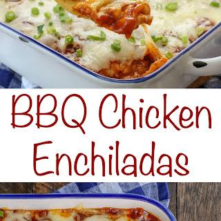 BBQ Chicken Enchiladas.
