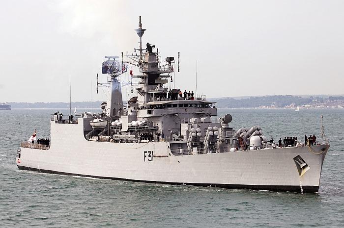 INS Brahmaputra - F31 - Missile Frigate - Indian Navy - 01-TN