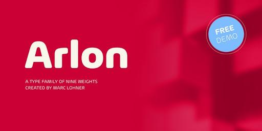 Download Arlon Fonts by Marc Lohner