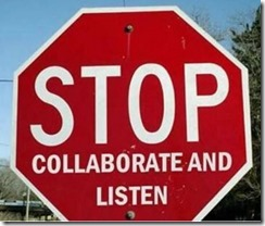 Signs --- STOP collaborate and listen (Vanilla Ice)