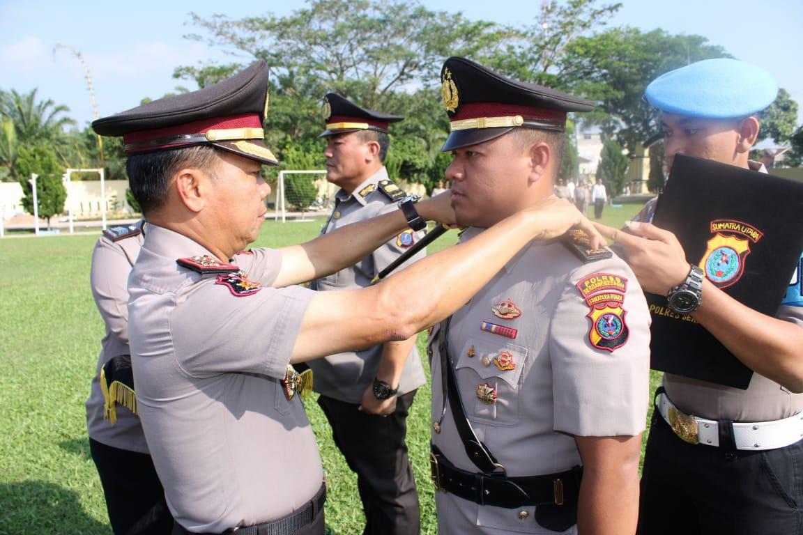 Kapolres Serdang Bedagai Pimpin Sertijab Kasat Reskrim Dan Kapolsek Tanjung Beringin