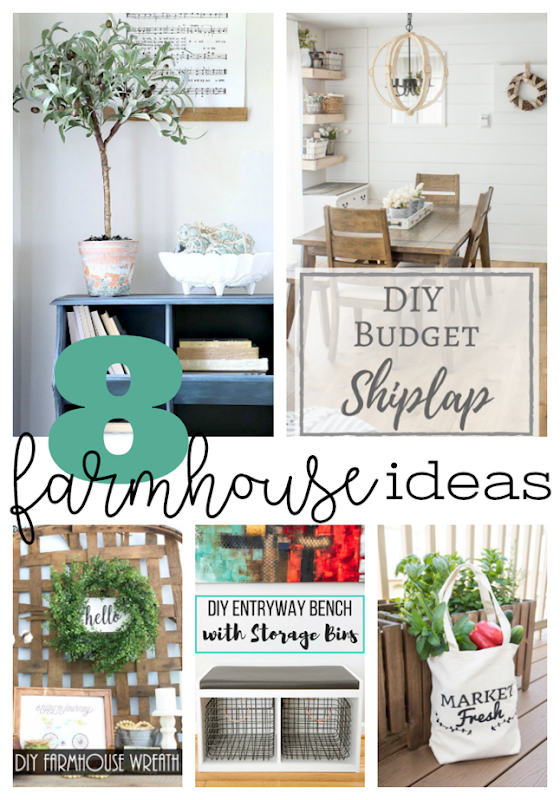 8 Farmhouse Ideas at GingerSnapCrafts.com #farmhouse #homedecor