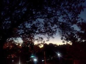 Photo: アパートのベランダから。夜明け?