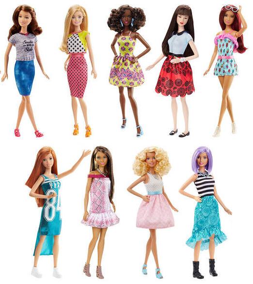 Las Barbies Fashionistas siguen siendo tiesas  Taque