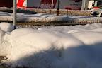 Tas de neige cyclable.