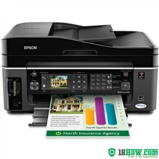 How to reset flashing lights for Epson WorkForce 323 printer