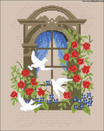 White doves of peace chart