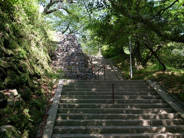 徳島城跡感想階段