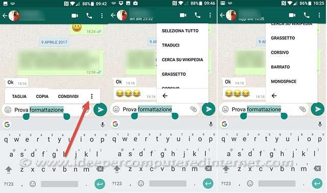 whatsapp-formattazione
