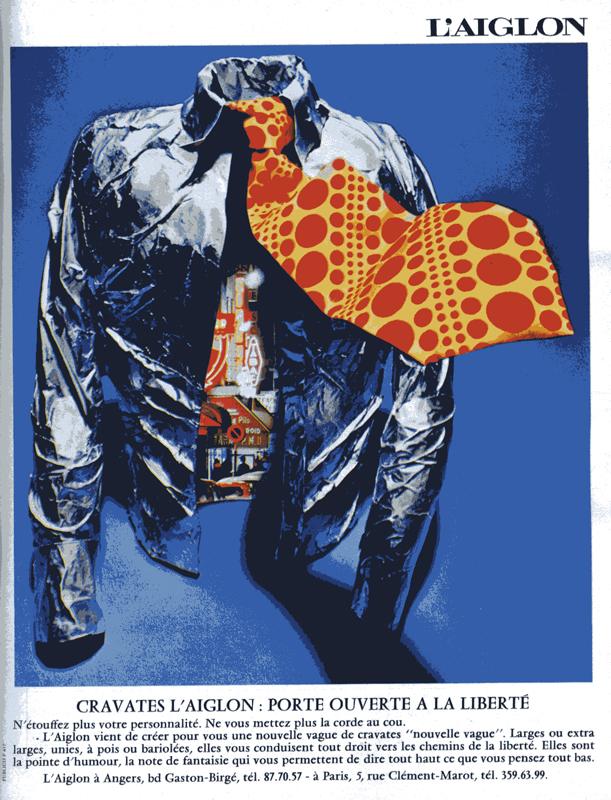 Publicité vintage : Cravates l'aiglon : Porte ouverte à la liberté - Pour vous Madame, pour vous Monsieur, des publicités, illustrations et rédactionnels choisis avec amour dans des publications des années 50, 60 et 70. Popcards Factory vous offre des divertissements de qualité. Vous pouvez également nous retrouver sur www.popcards.fr et www.filmfix.fr