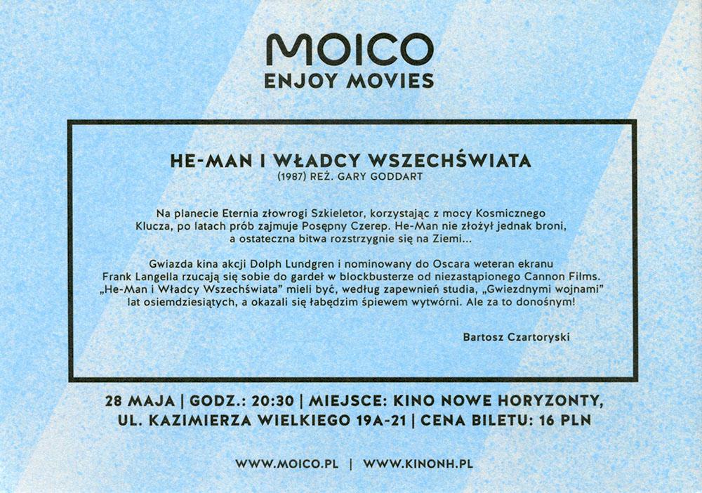 Ulotka filmu 'He-Man i Władcy Wszechświata (tył)'