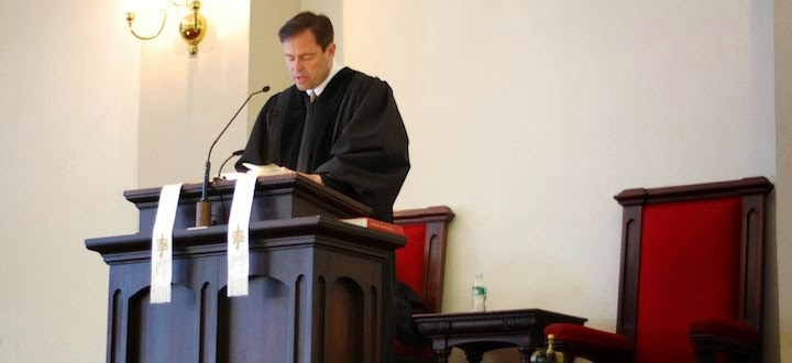 Image result for pastor in the church pulpit