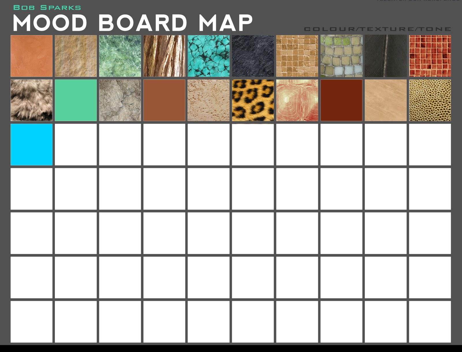 Alpha/Omega: Mood Board Template - Tezcatlipoca V.2