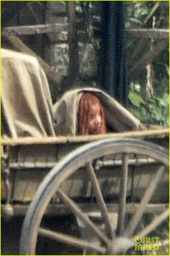 Close-up of Halle Bailey as Ariel in the wagon
