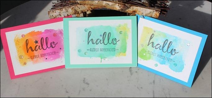 Baby Boy Girl Grußkarten Aquarell hallo kleiner sonnenschein 00
