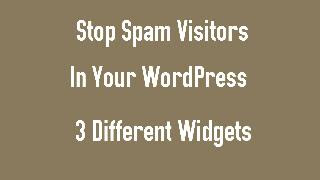 stop spam visitors how ?