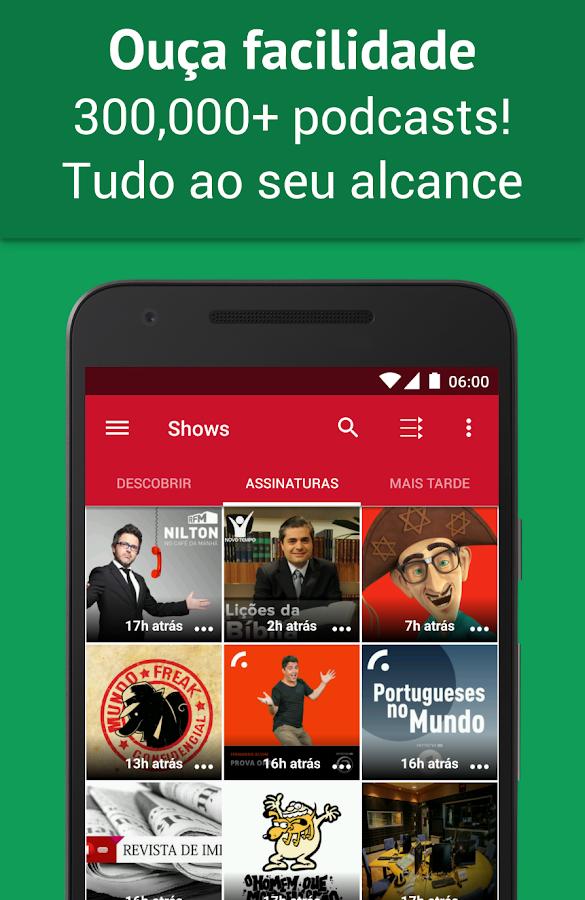 Podcast Player - Grátis: captura de tela