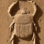 Escarbat - baix relleu al temple de Karnak