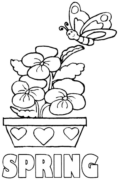Download Coloring Pages Printable Spring Pages
