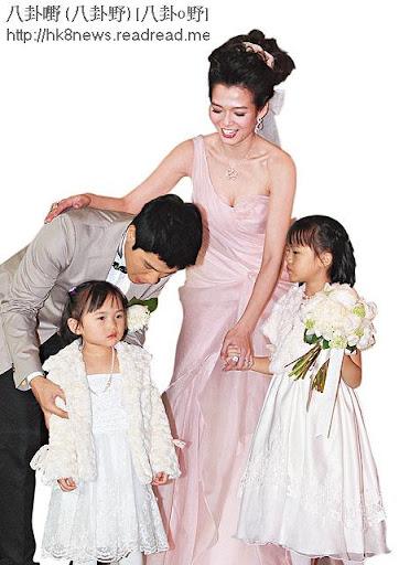 黃文迪和呂慧儀兩公婆向來喜歡小朋友,二人去年婚禮上,就不時兩位花女。