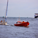 ILB tows a yacht back to Poole Harbour duing the Bournemouth Air Show - 30 August 2014.  Photo credit: Dave Riley