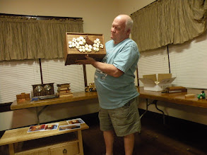 Photo: Terry holding hisJewelry box fair entry