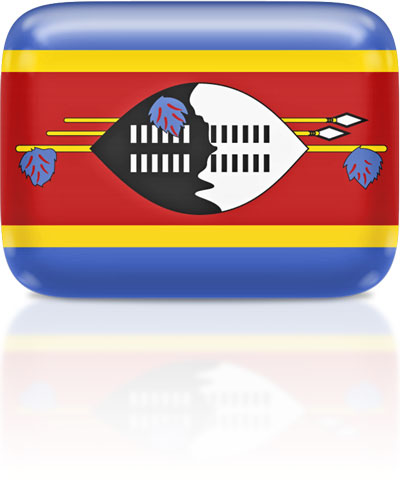 Swazi flag clipart rectangular