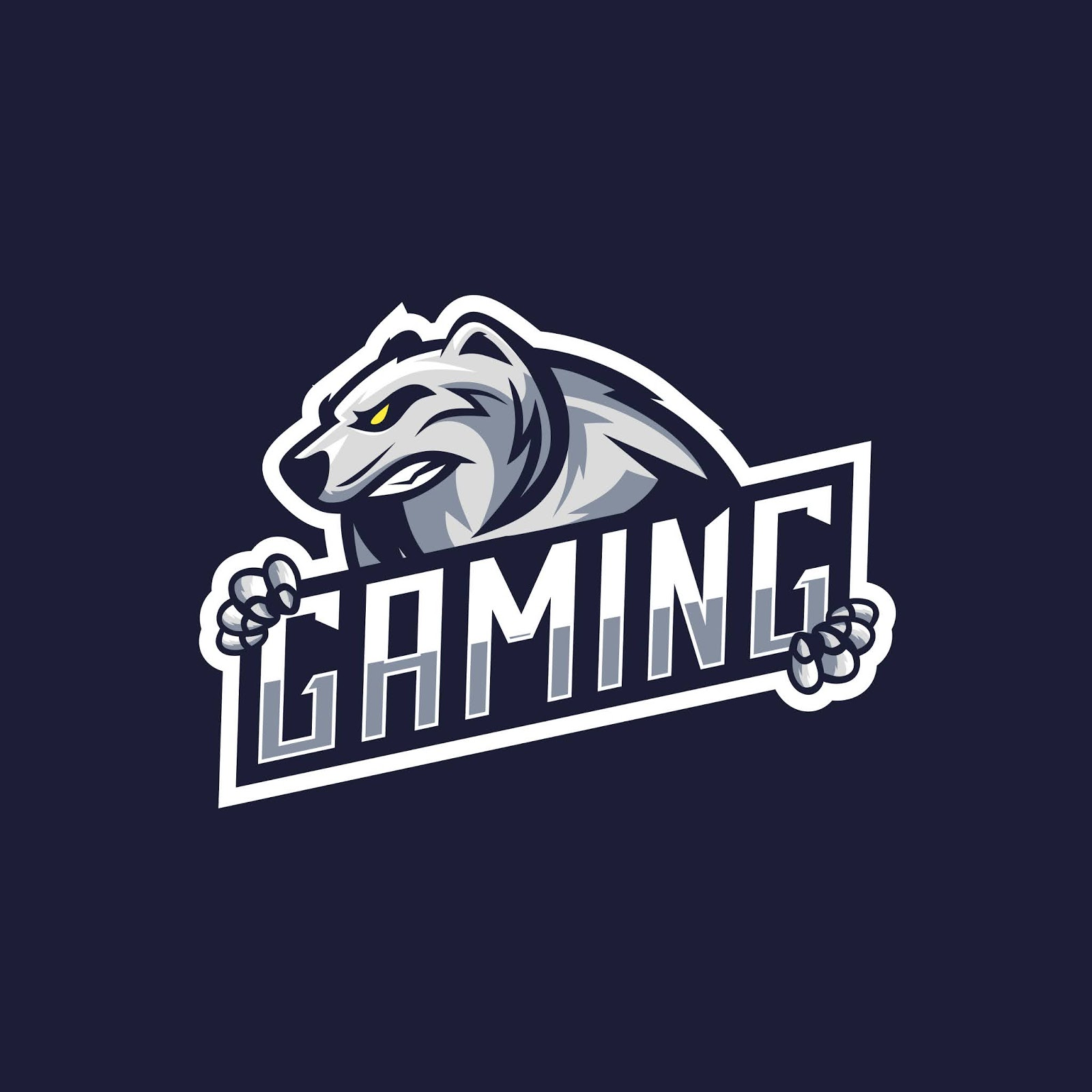 Awesome Polar Bear Logo Gaming Squad Free Download Vector CDR, AI, EPS and PNG Formats