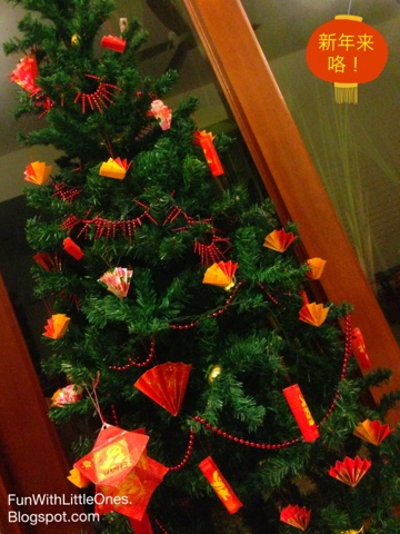 Fun with little ones our ang pao tree is up for Ang pao decoration