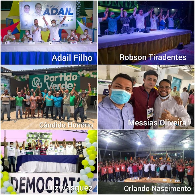 ELEIÇÕES 2020 - CONHEÇA AS SEIS CANDIDATURAS PARA PREFEITO DE COARI
