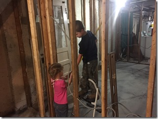 Kids helping with Renovation