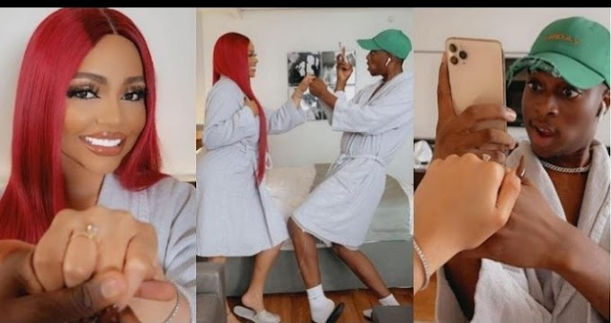Instageam Comedian Sydney Talker proposes to Nengi and she said Yes