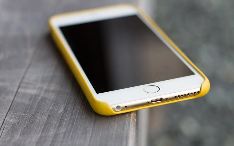 Appleiphone6plusLeathercasemarigold IMG 0599