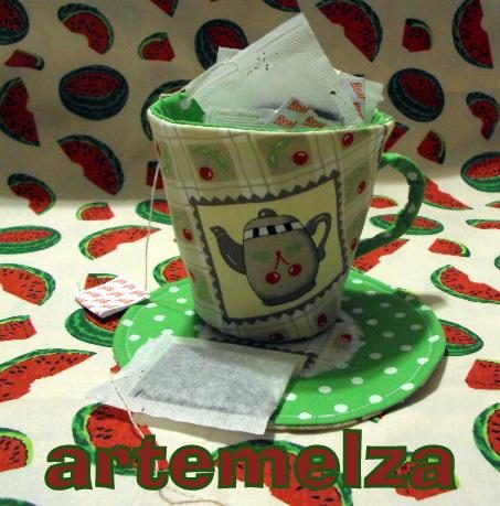 artemelza - xícara porta chá