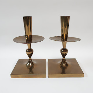 Midcentury Dorlyn Silversmith Candle Holders
