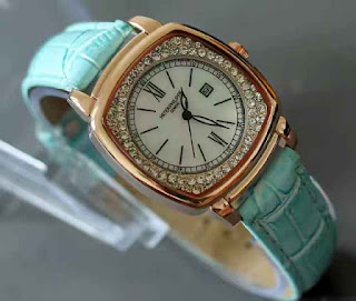 jam tangan Patek philippe date ring diamond green