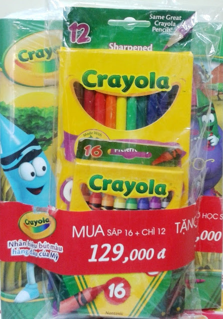 Sản phẩm Combo Bút chì 12 màu và Bút sáp 16 màu Crayola